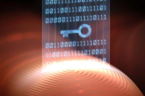 Graphic illustrating secure fingerprint data